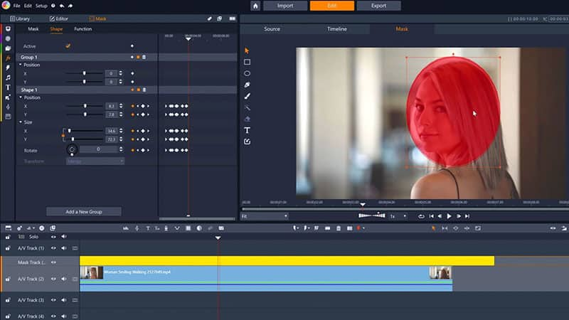 Keyframe your video mask