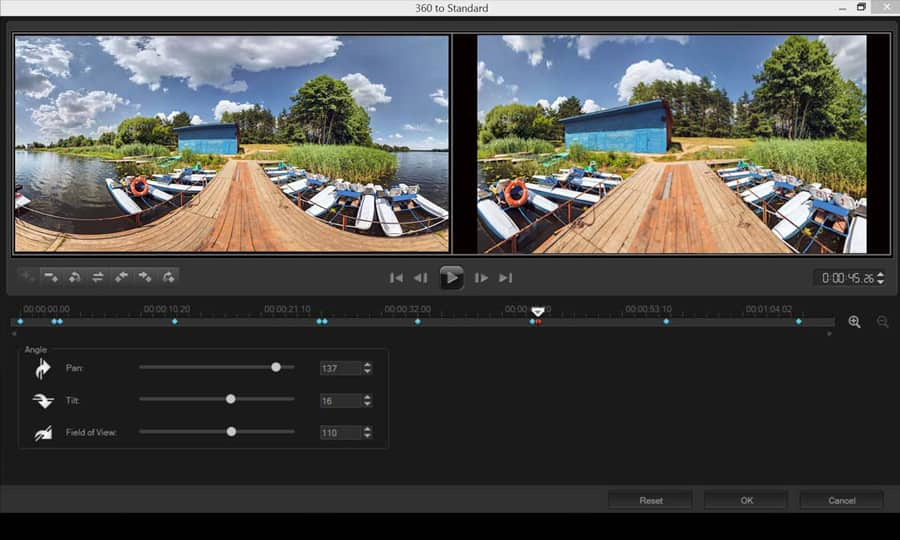How To Convert 360 Video To Standard Video in Pinnacle Studio
