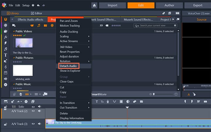 How To Remove Audio From Video in Pinnacle Studio