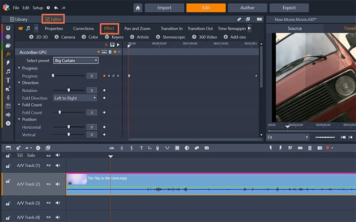 How To Add Video Effects in Pinnacle Studio