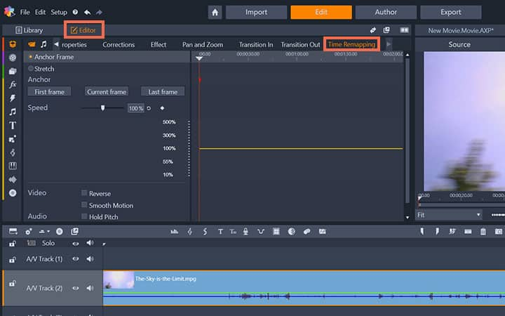 How To Speed Up A Video in Pinnacle Studio