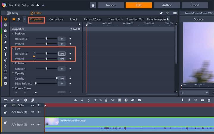 How To Change Video Resolution in Pinnacle Studio