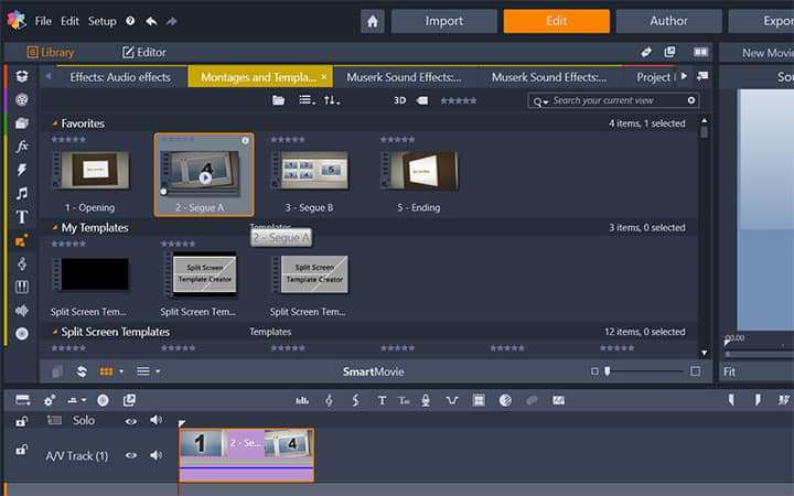 How to make a montage in pinnacle studio choose a template maxwellsz