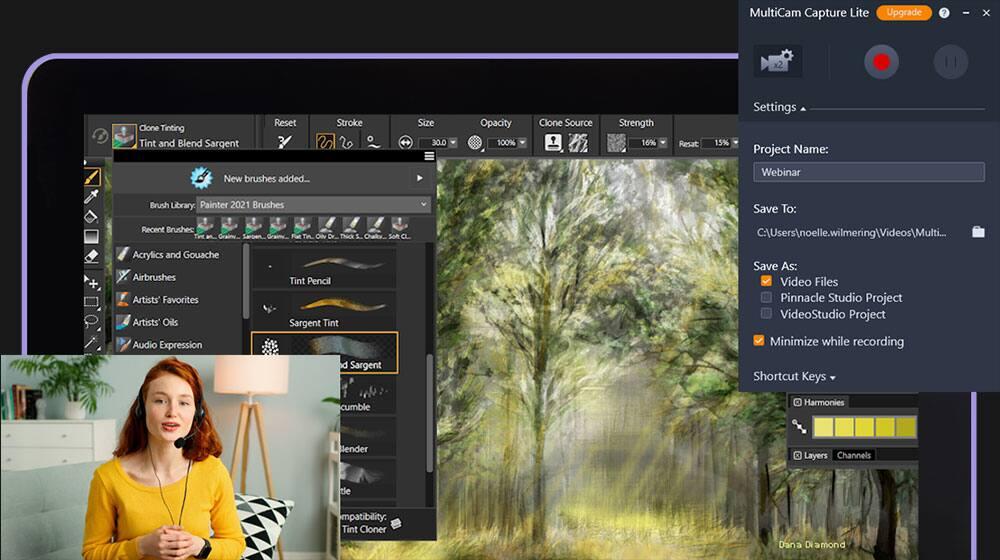 Screen recording and multi-camera editing
