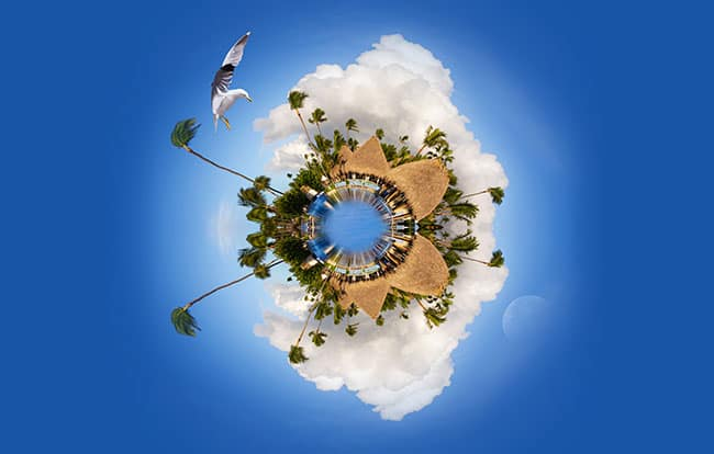 360° Video Tiny Planet Effects