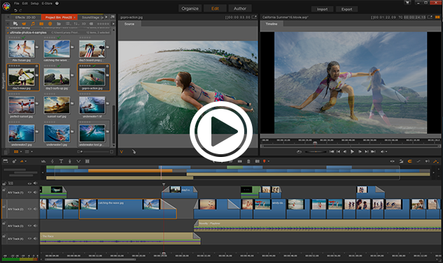 Il semplice software di editing video Pinnacle al lavoro