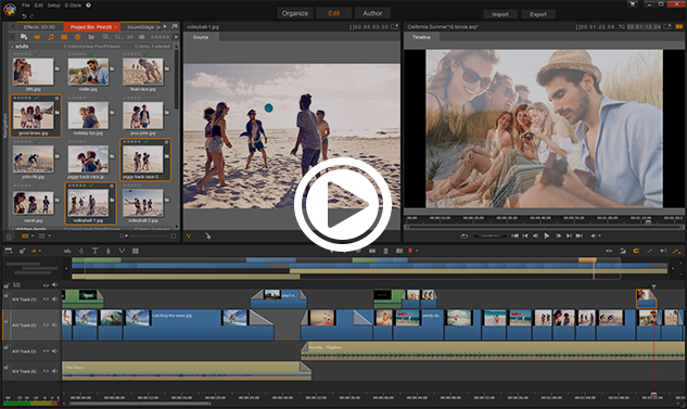 Pinnacle's Easy Video Editing Software at Work